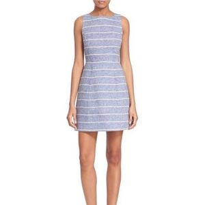 Alice + Olivia Striped Fit and Flare Dress